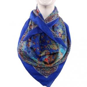 Silk Scarf Royal Blue Sahi Safari Print