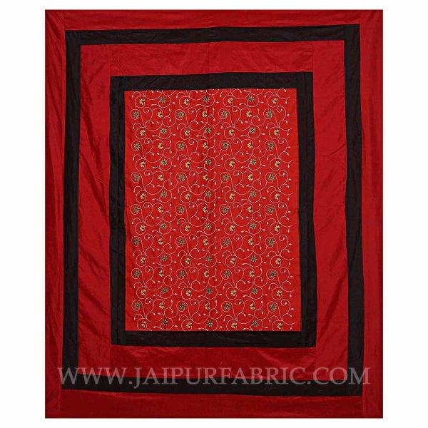 Ruby Red Rajwada Silk Double Bedsheet