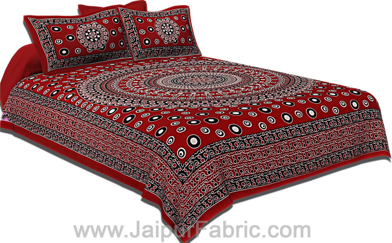 COMBO83- Set of 1 Double Bedsheet and  1 Single Bedsheet With  2+1 Pillow Cover
