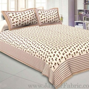 King Size Bedsheet Fine Cotton With Two Pillow Cover