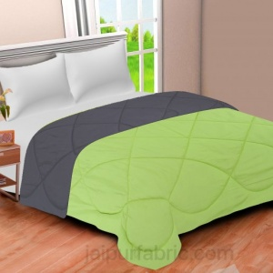 Dark Grey - Lemon Green Double Bed Comforter