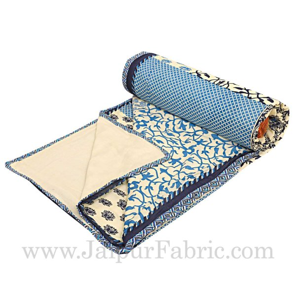 Double Bed Dohar Smooth Cotton Cover Small Boota Print Use As ( Blanket, Chaddar,Ac Quilt)
