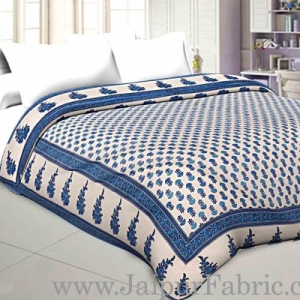 Double Bed Dohar Fine Smooth Cotton Floral Print  Use As Multi Purpose (Chaddar,Blanket ,Ac Quilt)