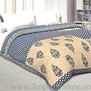 Double Bed Dohar Smooth Cotton Floral Print Use As (Blanket ,Ac Quilt ,Dohar)