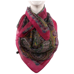 Silk Scarf Rani Color Big Boota Print
