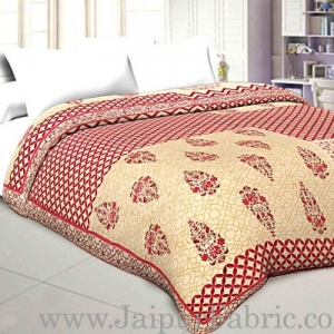 Double Bed Dohar Smooth Cotton Cover Big Boota Print Use As ( Blanket, Chaddar,Ac Quilt)