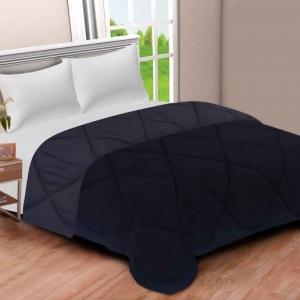 Black Grey  Double Bed Comforter