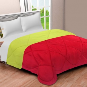 Red-Lemon Green  Double Bed Comforter