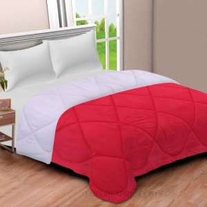 Red-Off White  Double Bed Comforter