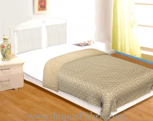 Muslin Cotton Single bed Reversible mulmul Dohar with pastel hand block print