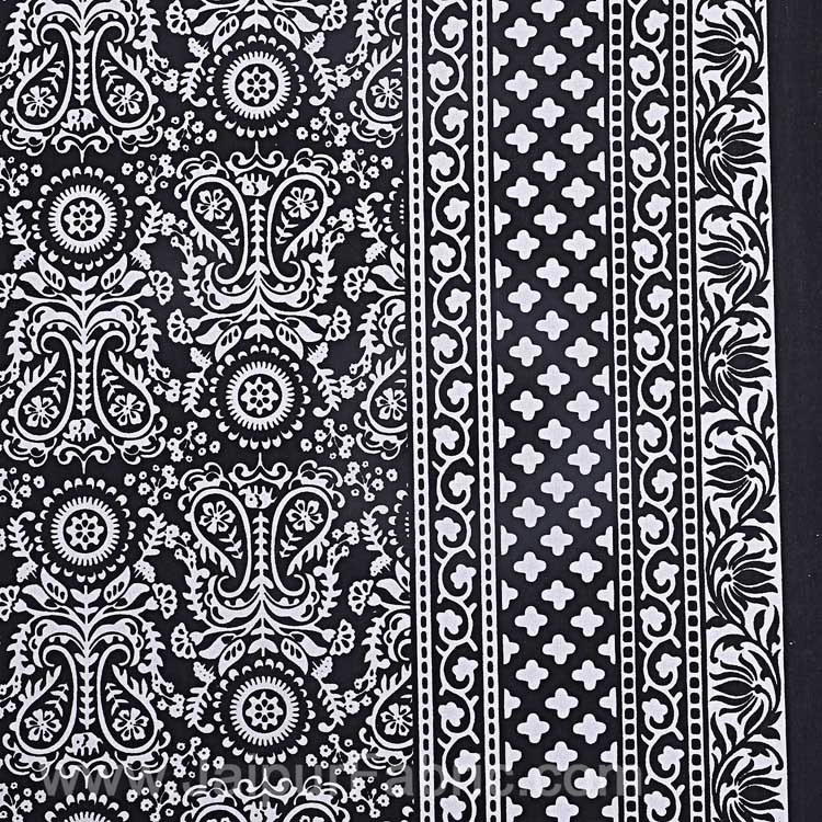 Charcoal Black Pleasing Paisley