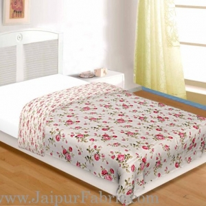 Muslin Cotton Single bed Reversible mulmul Dohar in seamless floral print