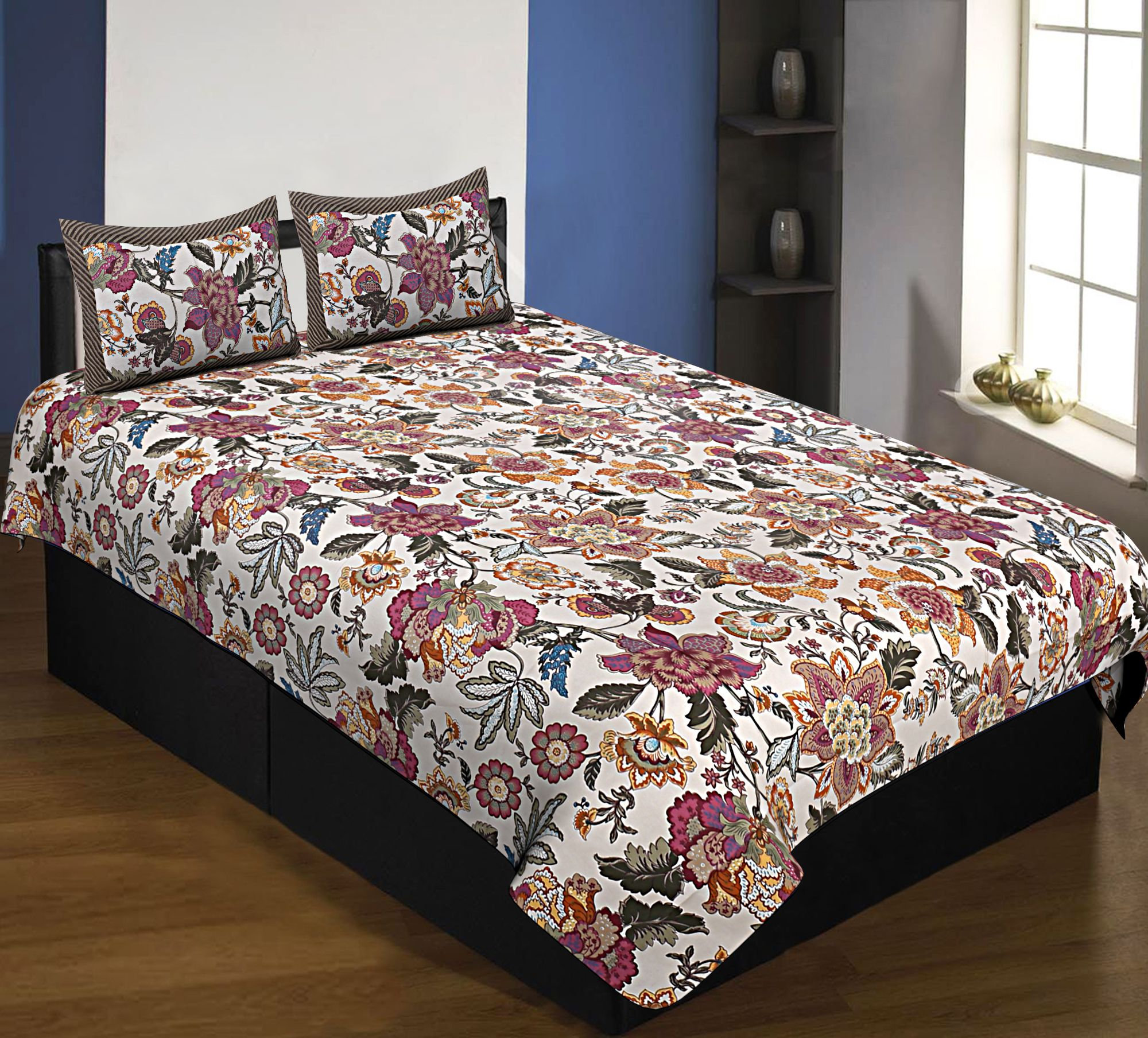 Pure Cotton 240 TC Single Bedsheet spring jungle taxable