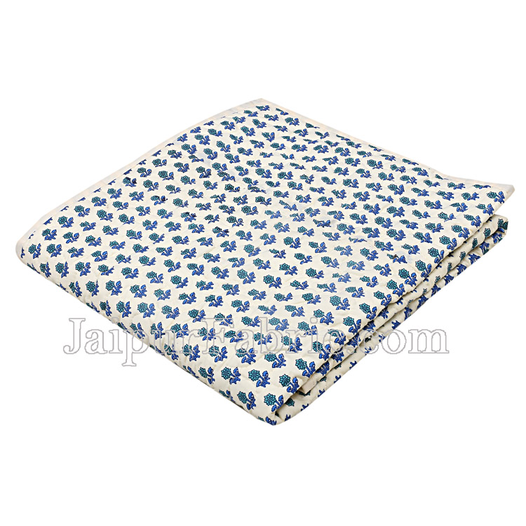 Newborn Baby Soft Green & Blue Colourful Crib Comforter/Swaddling Blankets/Quilt, 120 x 120 cm Cream Base Baby Quilt