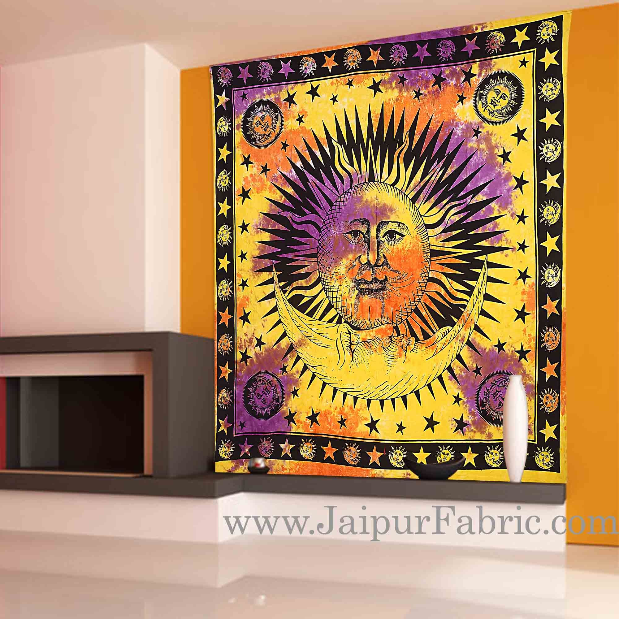 Sun and Moon Tapestry wall hanging and beach throw