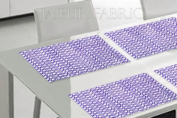 Purple Tropical Design Table Mat