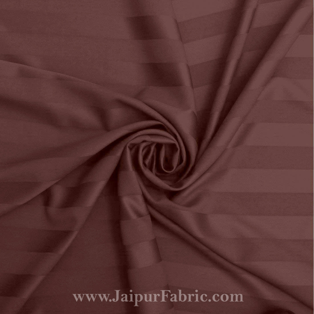 Dark Brown Self Design 300 TC King Size Pure Cotton Satin Slumber Sheet for Double Bed with 2 pillow covers