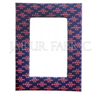 Blue Bandhani Print Fabric Photo Frame