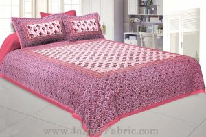 Wholesale Floral BedSheet Double Bed with Pink Base
