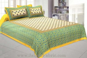 Wholesale Floral BedSheet Double Bed with Yellow Base