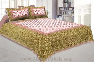 Wholesale Floral BedSheet Double Bed with Brown Base