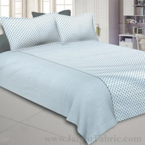 Grey Pearls Double Bedsheet