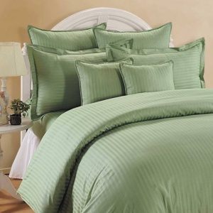Cotton Double Bedsheet Pista Green with 2 Pillow Covers