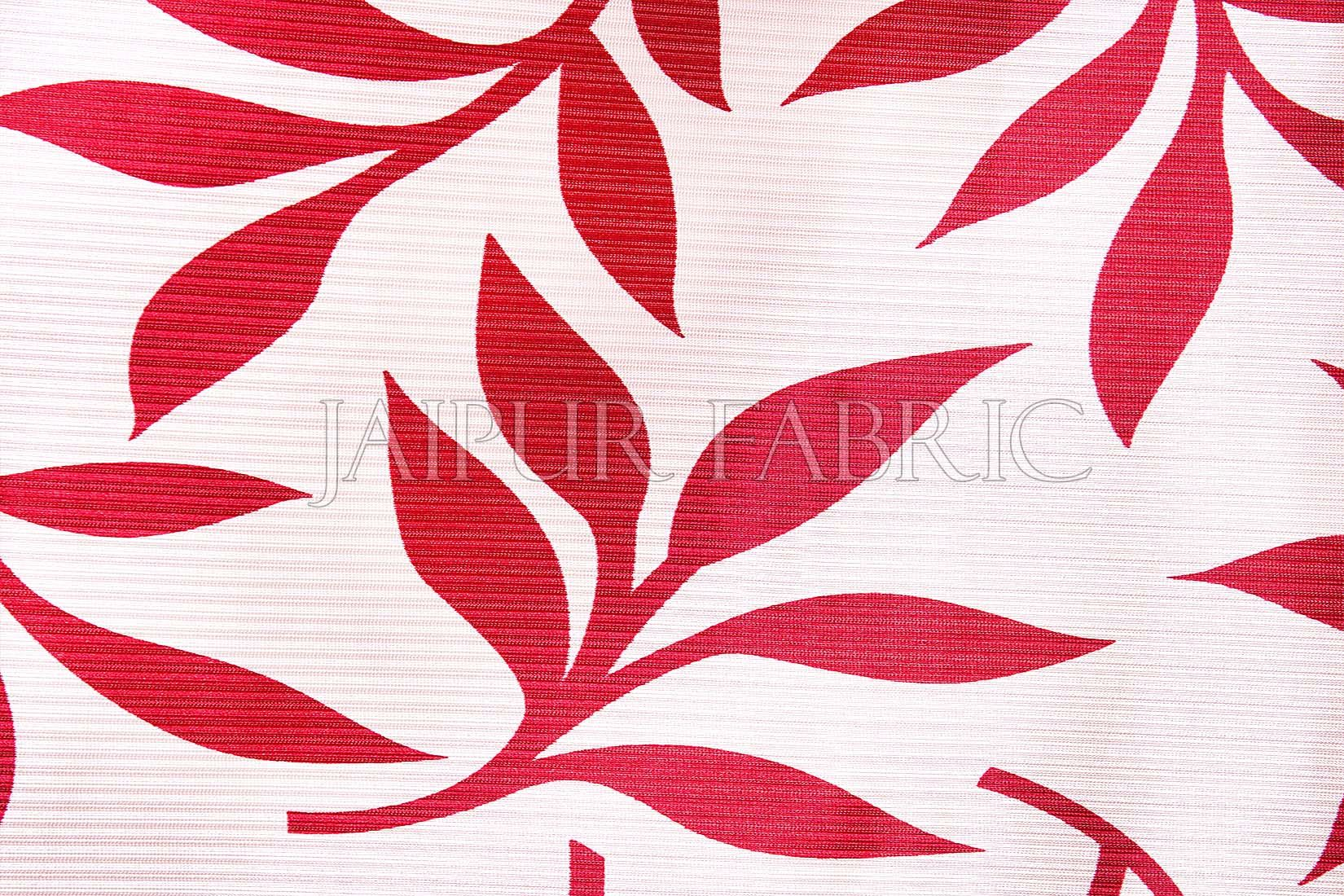 Red leaf Printed Polyester Curtain