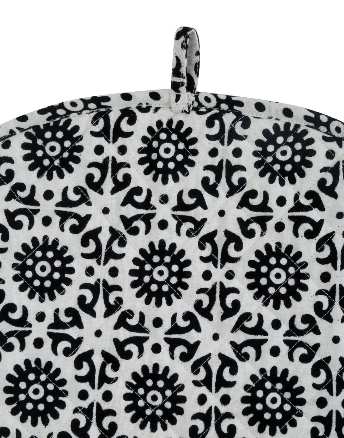 White Tea Cosy Cotton kitchen accessories Black royal Tea Cozy black kettle cover