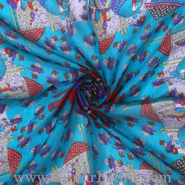 Silk Scarf Firozi Heritage Look