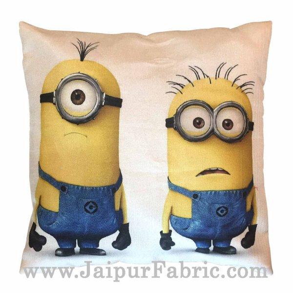 Jute Cushion Cover Digital Print Soft Minions