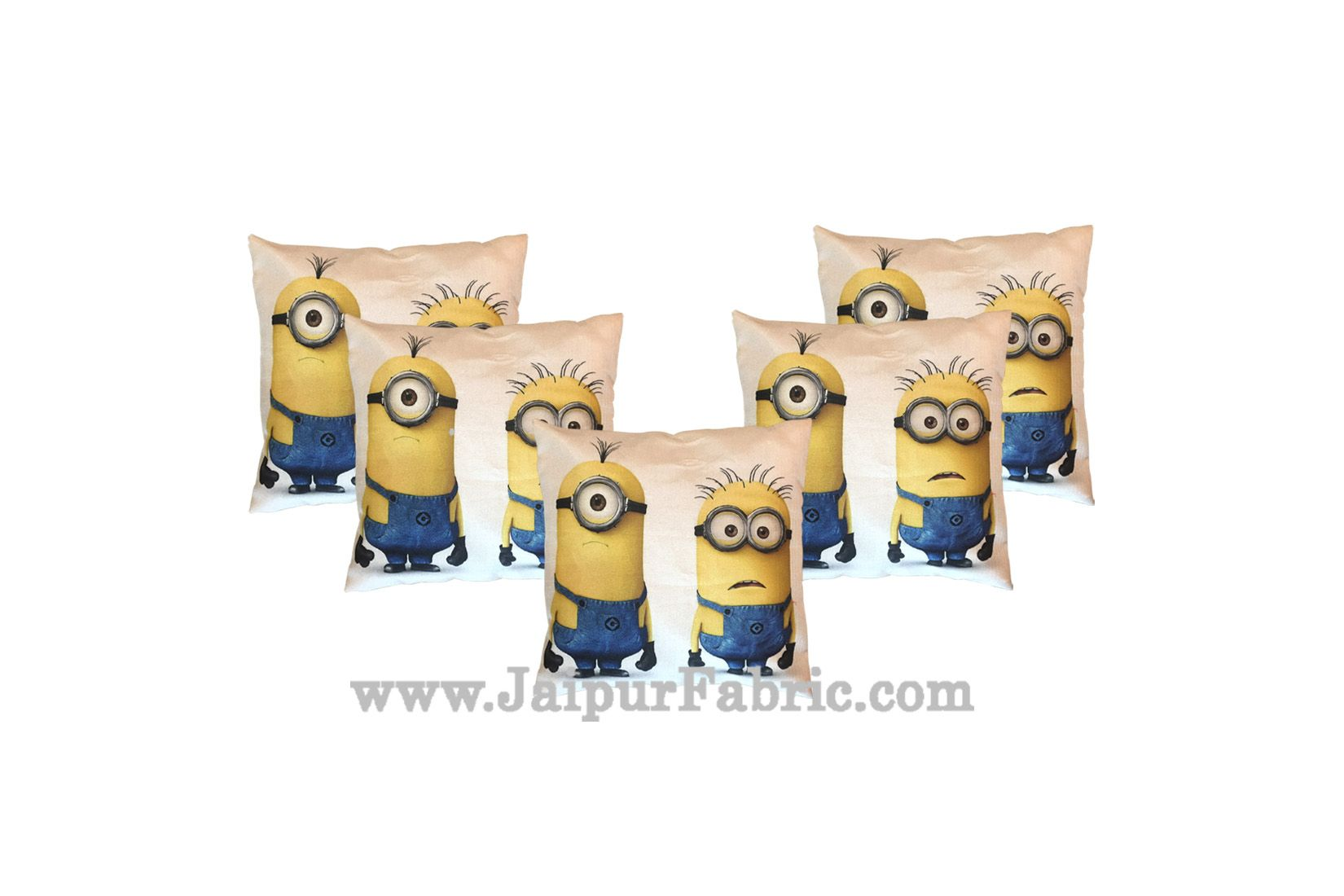 Jute Cushion Cover Digital Print Soft Minions