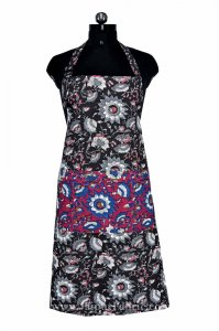 Floral Motif print beautiful black apron