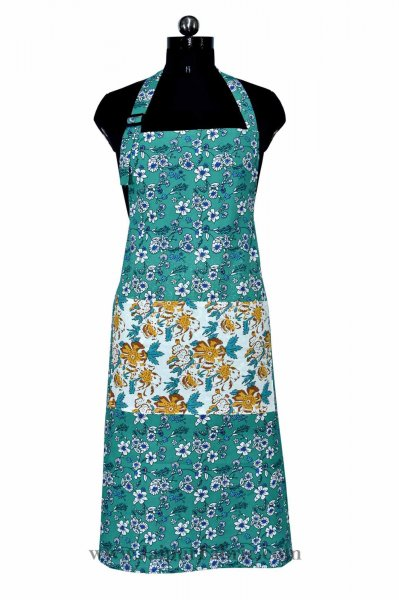 Retro bale sea green apron