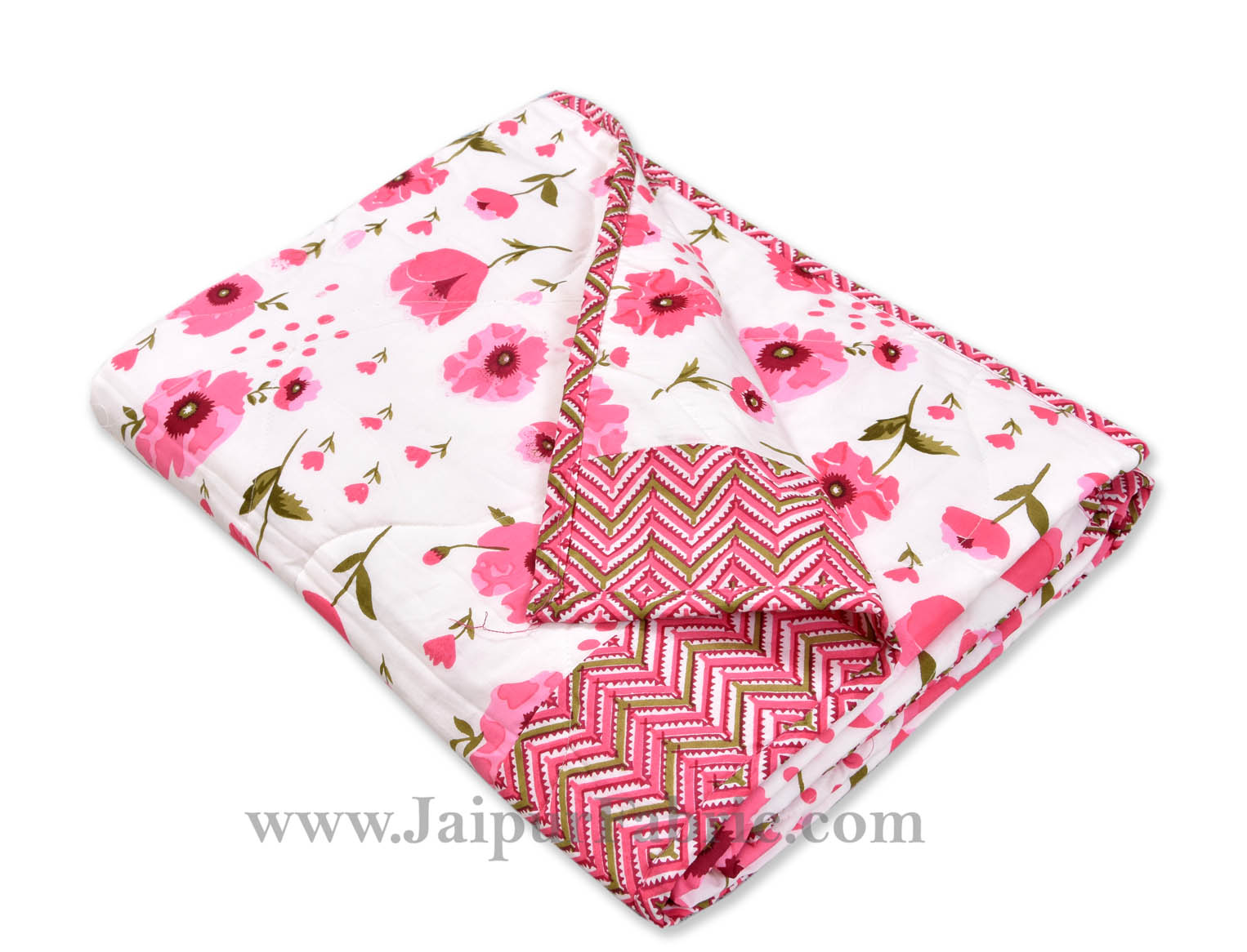 Baby Blanket New Born Pink & White Crib Comforter Toddler Baby Quilt Soft Cute Kids Quilt 120 x 120 cm Multi color