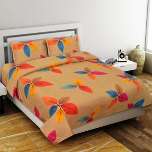 Beauty Petals Premium Poly Cotton Double Bedsheet