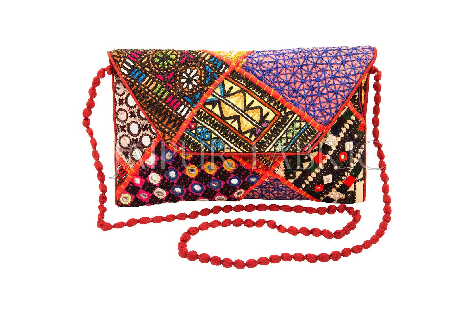 COMBO5 - Set of Afghani, Scarf and Clutch
