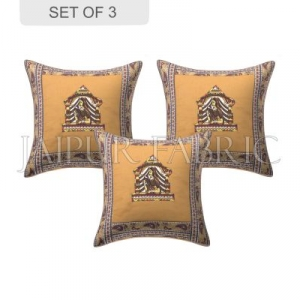 Brown Doli Design Patchwork & Applique Cushion Cover