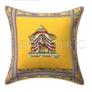 New Mustard Doli Design Patchwork & Applique Cushion Cover
