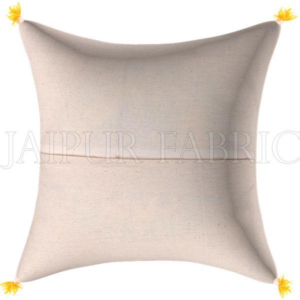 Golden Print Multi Colour Central Square Floral Print Cushion Cover