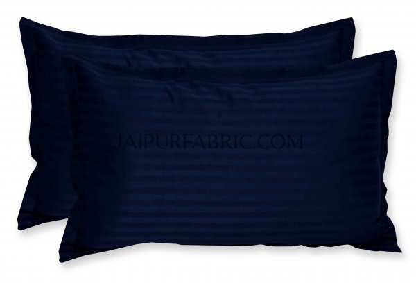 Navy Blue Color Pillow Cover Pair
