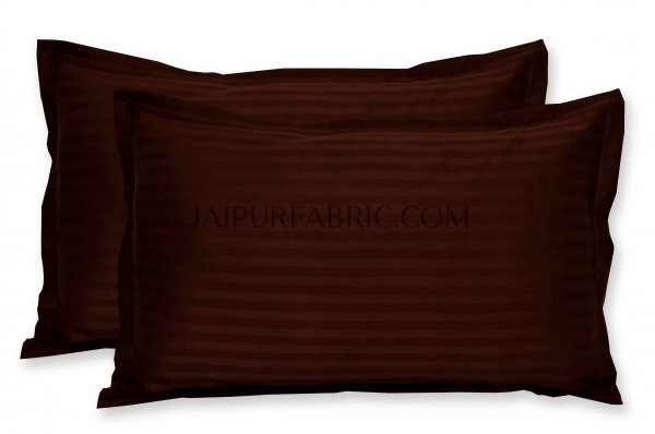Brown Color Pillow Cover Pair