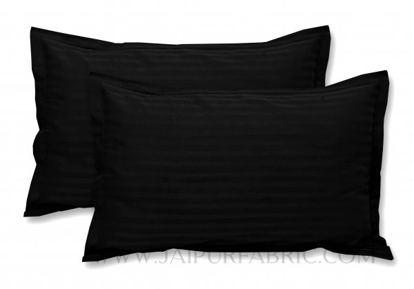 Black Color Pillow Cover Pair