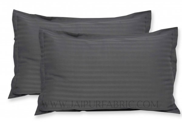 Grey Color Pillow Cover Pair