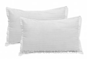 White Color Pillow Cover Pair