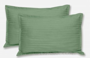 Green Color Pillow Cover Pair