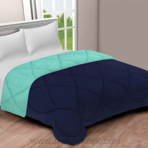 Navy Blue- Aqua Green Double Bed Comforter