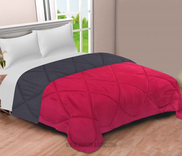 Red-Grey  Double Bed Comforter