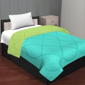 Aqua Green Parrot Green Single Bed Comforter
