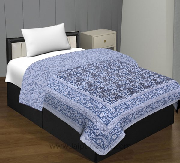 Heritage Hand Block Single Bed Comforter